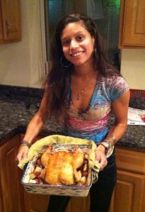 me with chicken