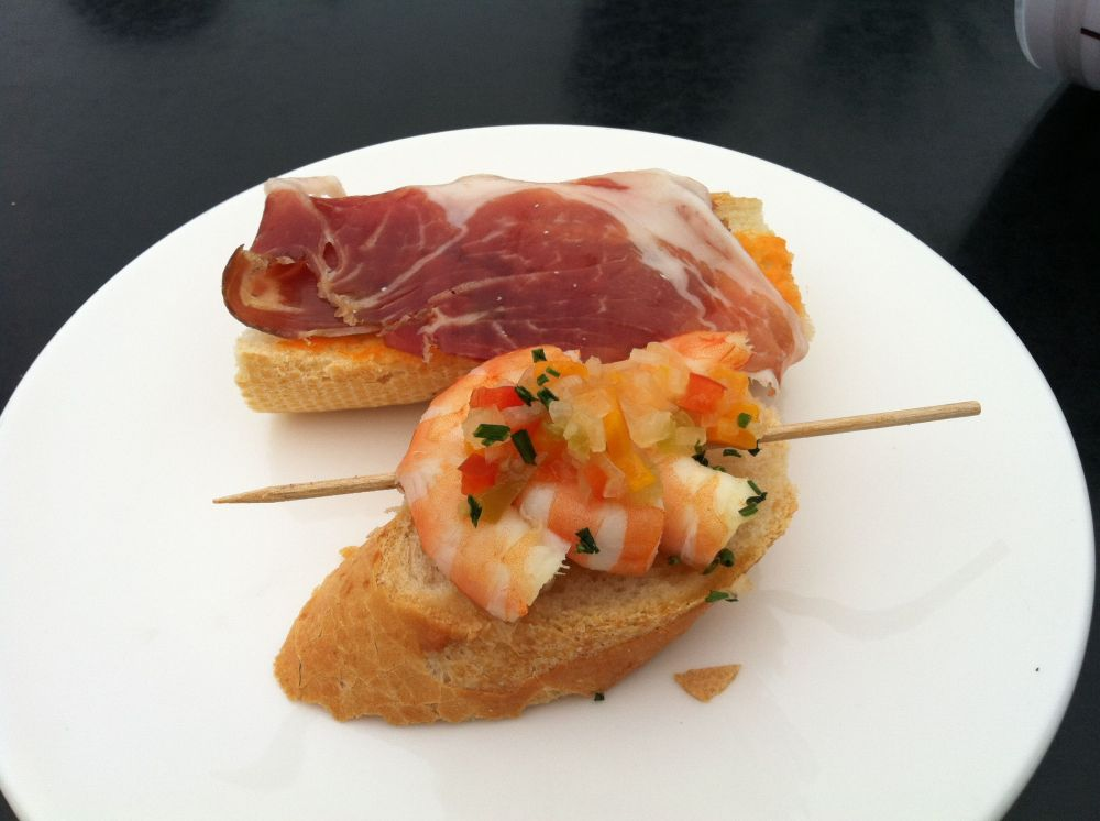 Serrano Ham and Shrimp pulled out of the ocean that morning