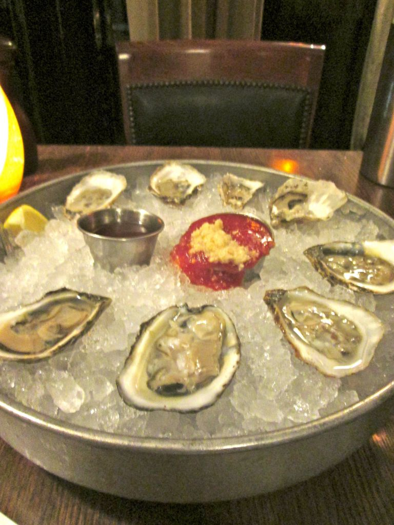 The oysters even came with definitions of the flavor of each so we could taste and compare