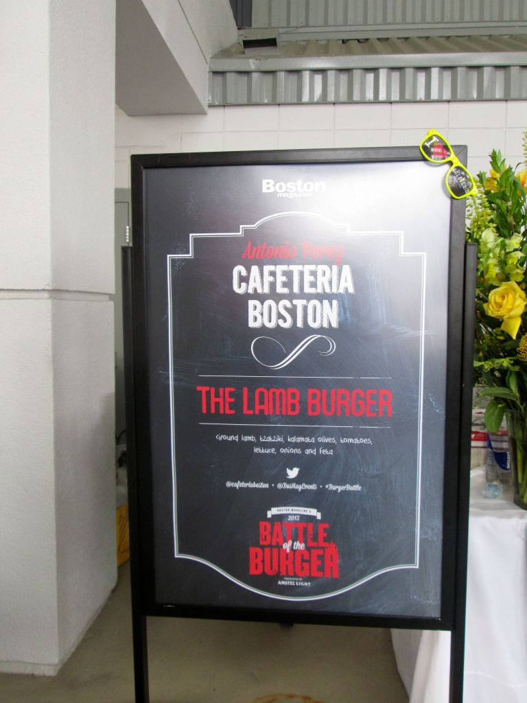 which had a nice board explaining the burger to attendees