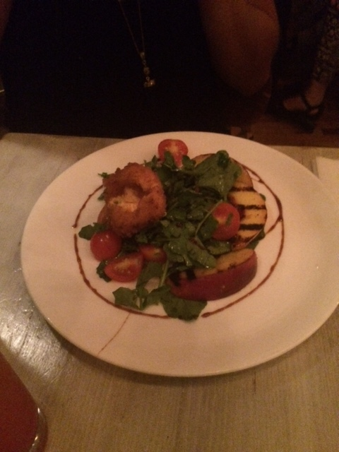 Incredible biscuits and the grilled peach salad at Root and Bone