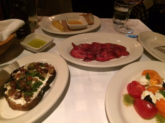 Incredible pasta and, salads, and cured meats